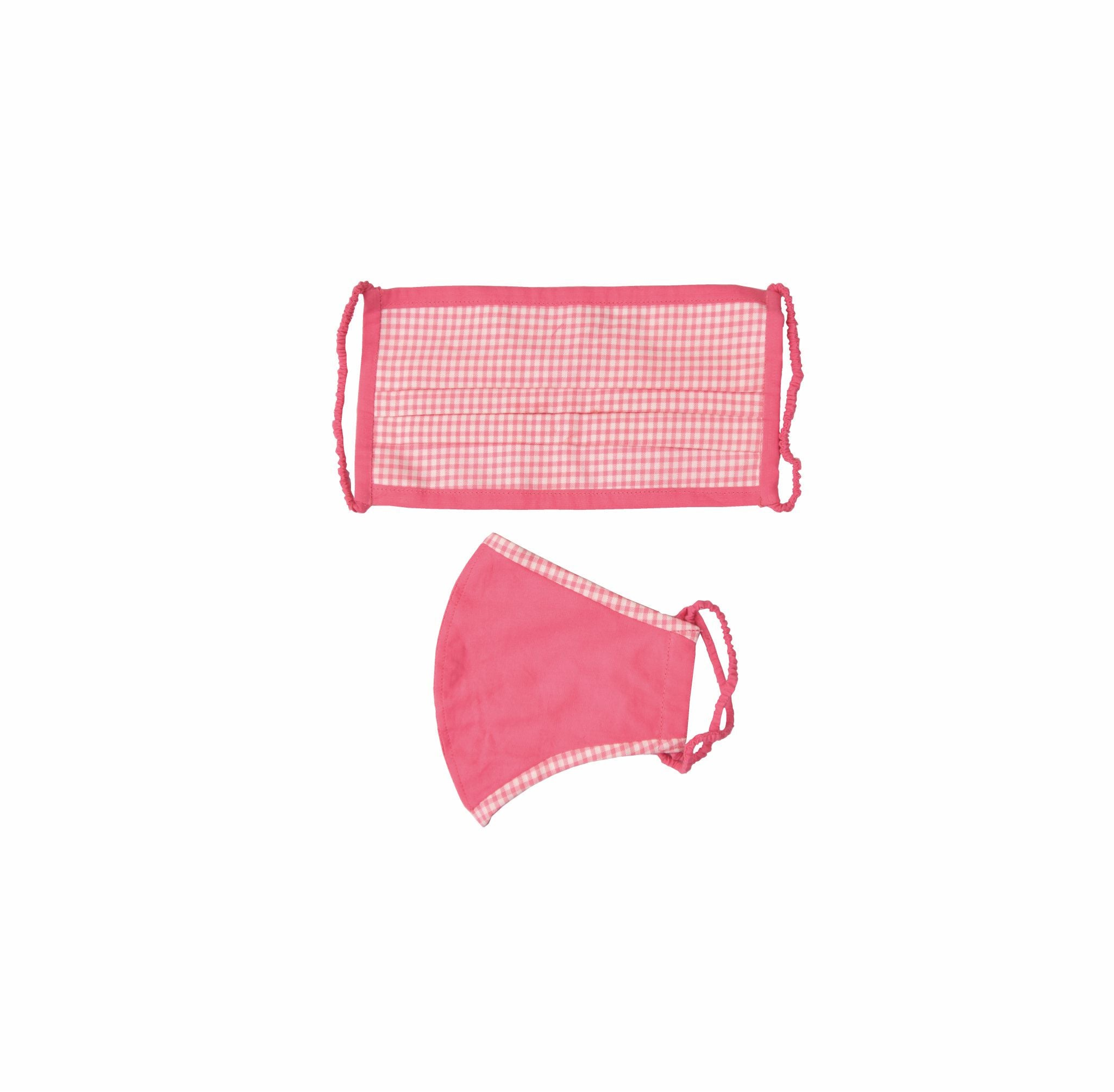 Pink check cotton based safety essential kit