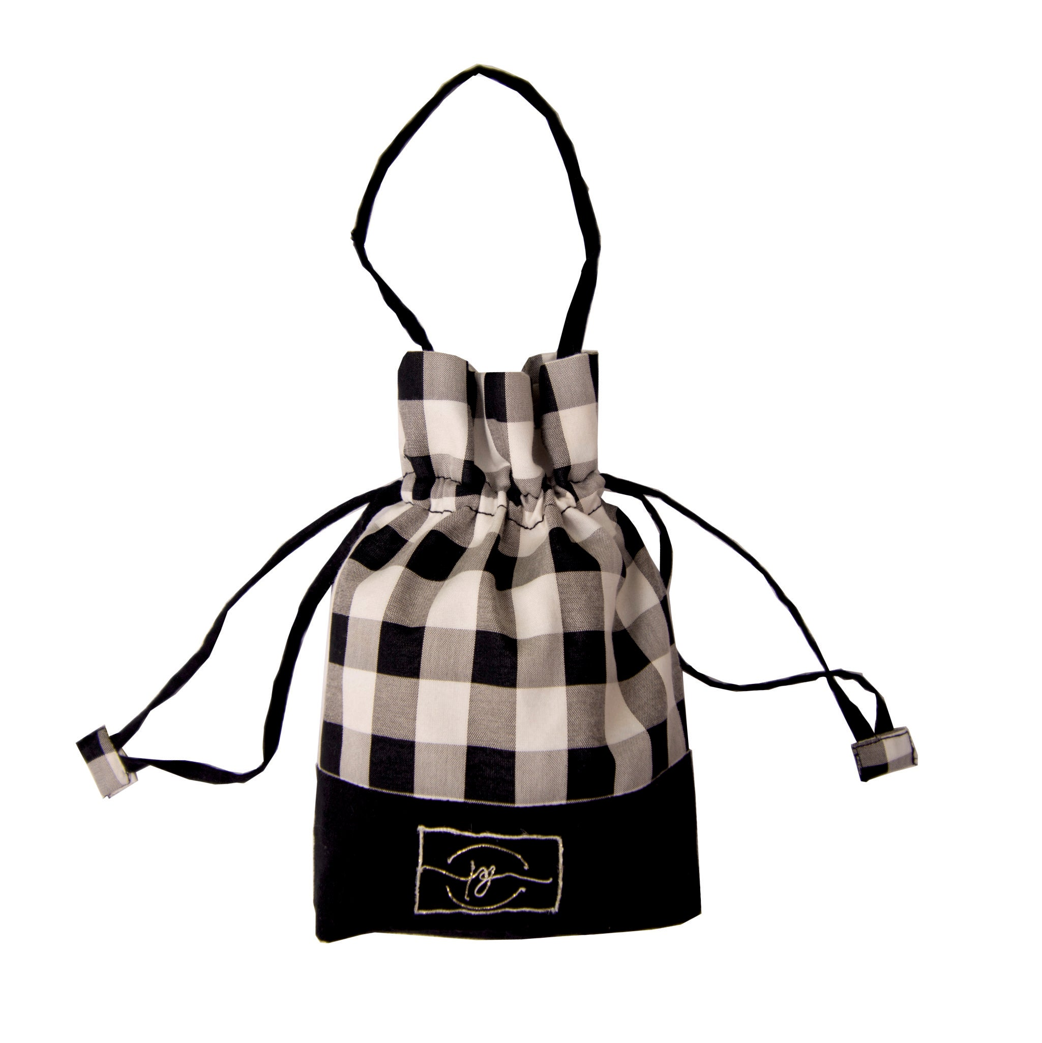 Black check cotton based safety essential kit