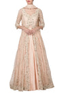 Peach Lehenga Jacket Set