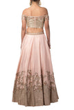 Misty Rose Embroidered Lehenga Set
