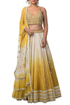 Yellow Ombre Dyed Lehenga Set