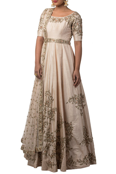 Seashell Embroidered Anarkali Set