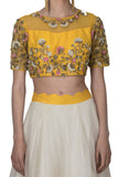 Yellow Crop Top and Skirt