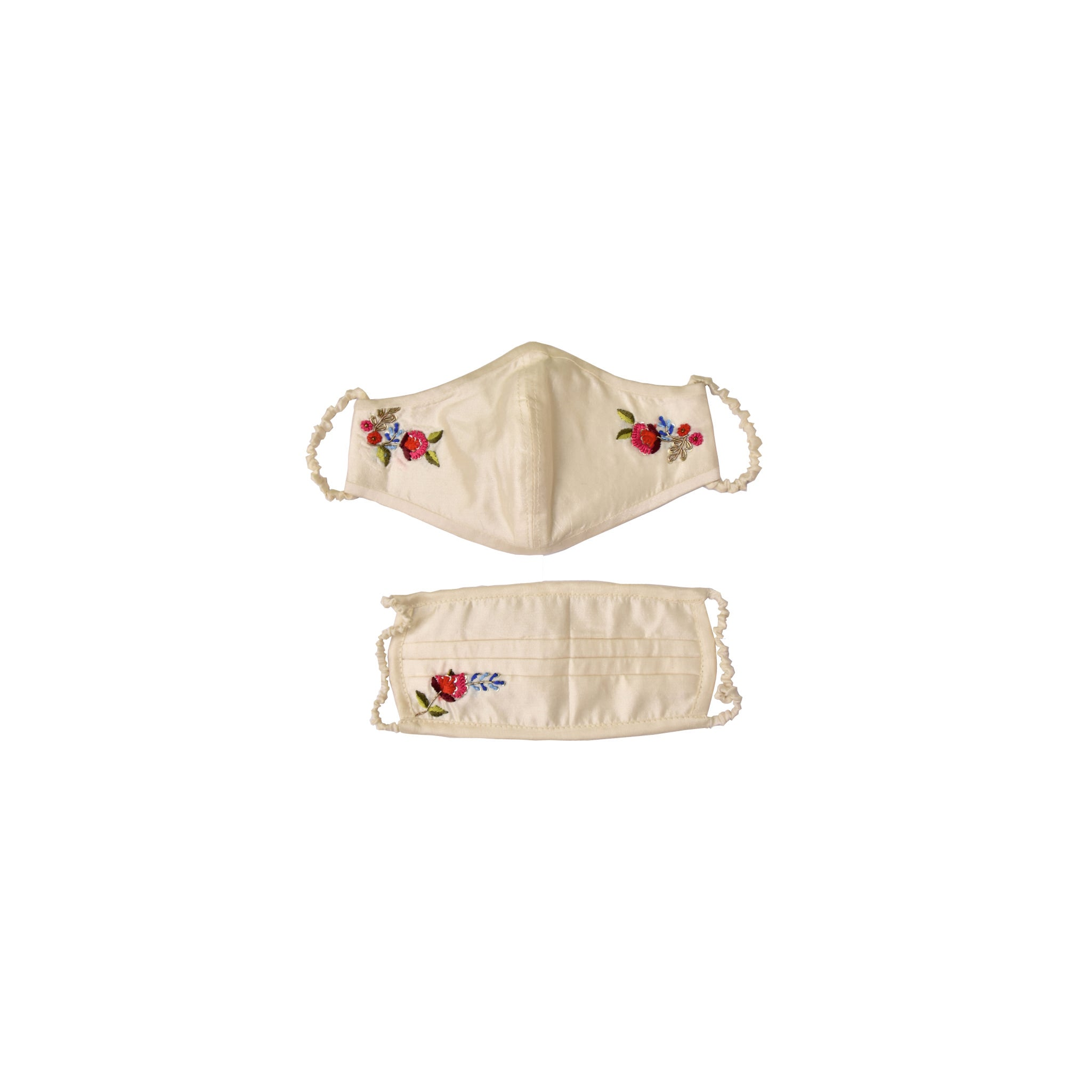 Ivory Hand Embroidered cotton based safety essential kit