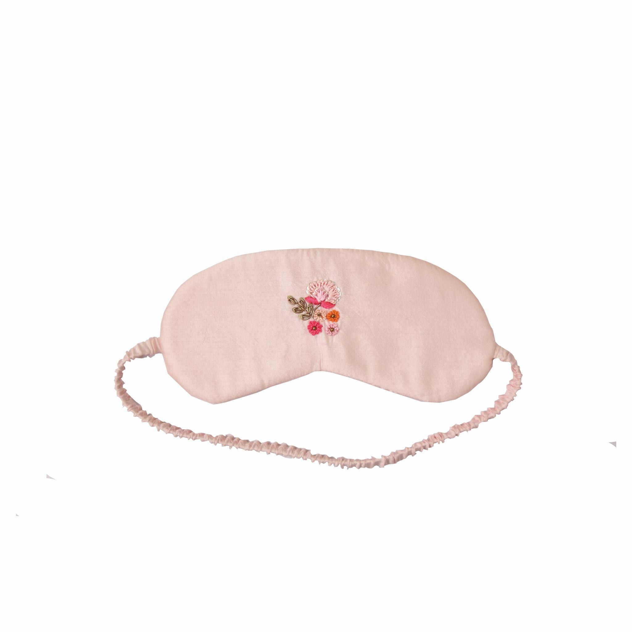 Baby Pink Hand Embroidered cotton based safety essential kit