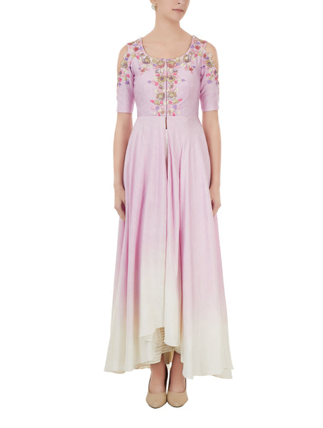 Lilac embroidered Palazzo Set