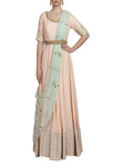 Blush Pink Embroidered Anarkali