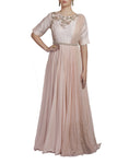 Powder Pink Embroidered Gown