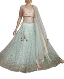 Sequence Worked Powder Blue Lehenga Set