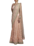 Peach Embroidered Saree