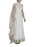 Ivory Embroidered Anarkali