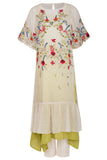 Ivory Striped Embroidered Kurta Set