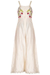 Ivory Embroidered Jumpsuit