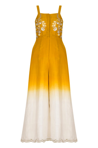 Yellow Ombre Dyed Jumpsuit