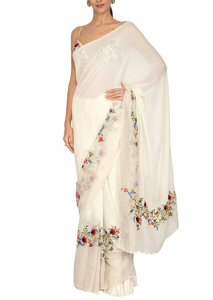Ivory Mix and Match Saree