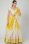 Yellow and Ivory Ombre Dyed Lehenga Set