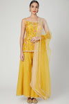 Yellow Multicolored Hand Embroidered Sharara Set