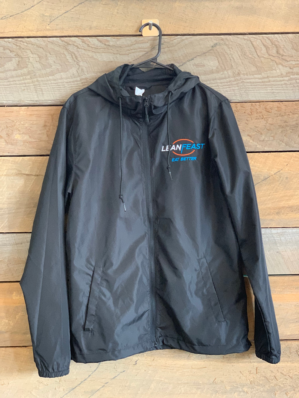 LeanFeast Lightweight Black Wind Breaker