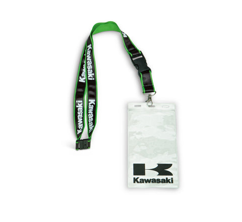 K066-9107-BKNS KAWASAKI LANYARD AND BADGE HOLDER