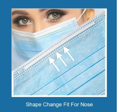 30 PCS Face Mask Disposable 3-Ply Earloop Mouth Cover Individually Packaged