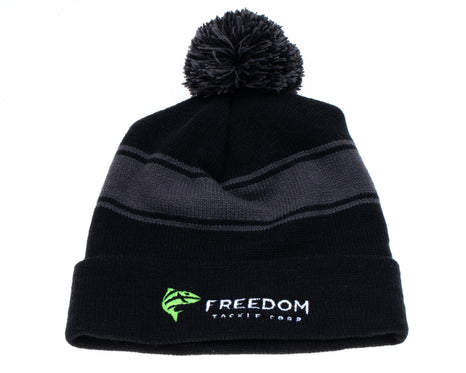 Freedom Blackout Pom Pom Beanie