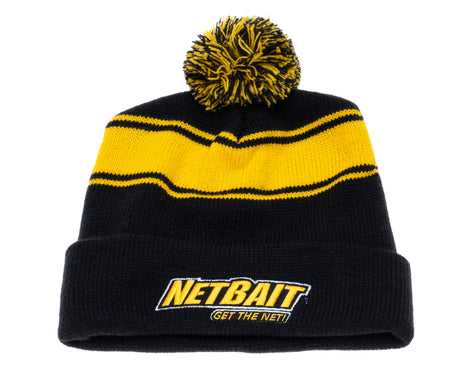 NetBait Striped Pom Pom Beanie