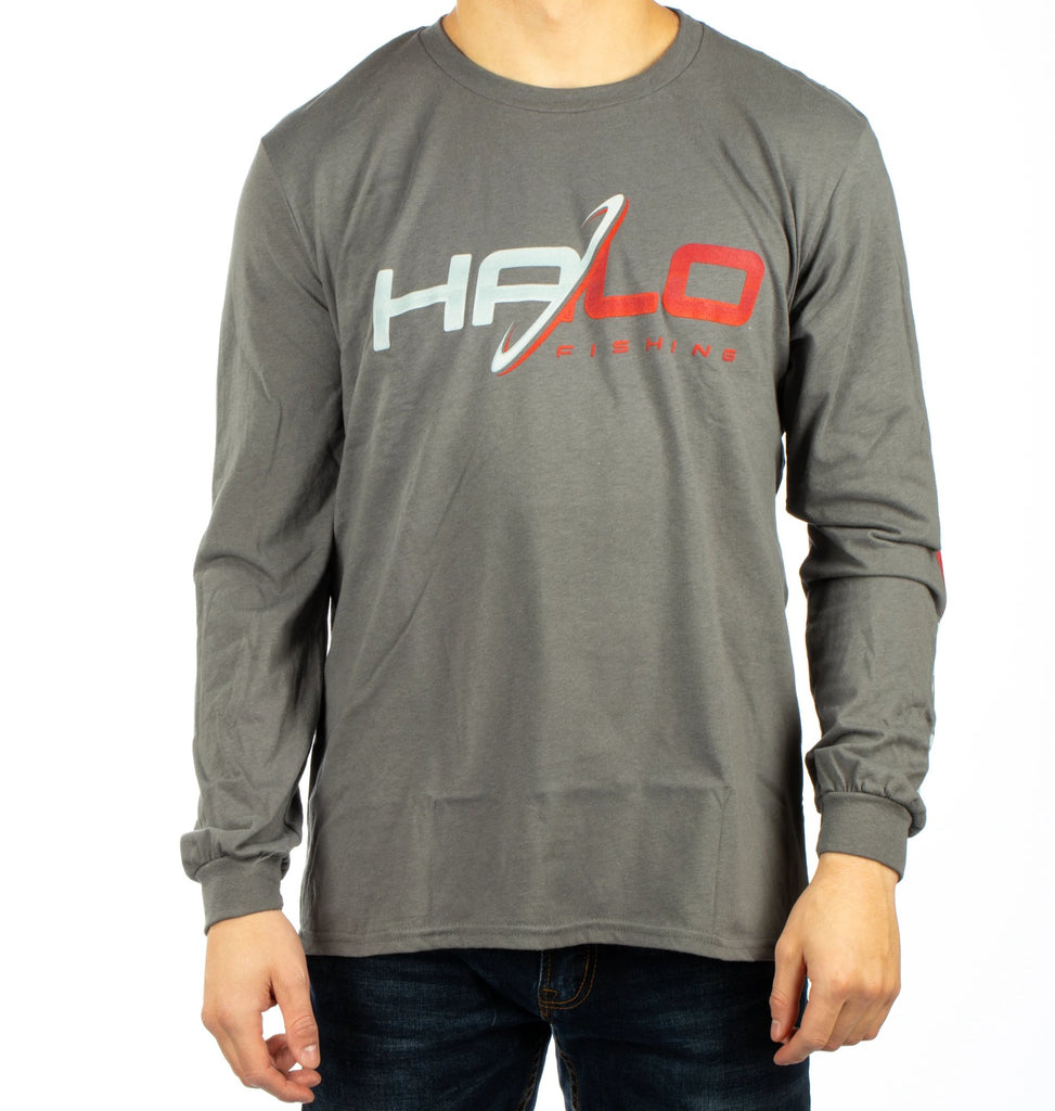 Halo Fishing  LS Shirt - Grey