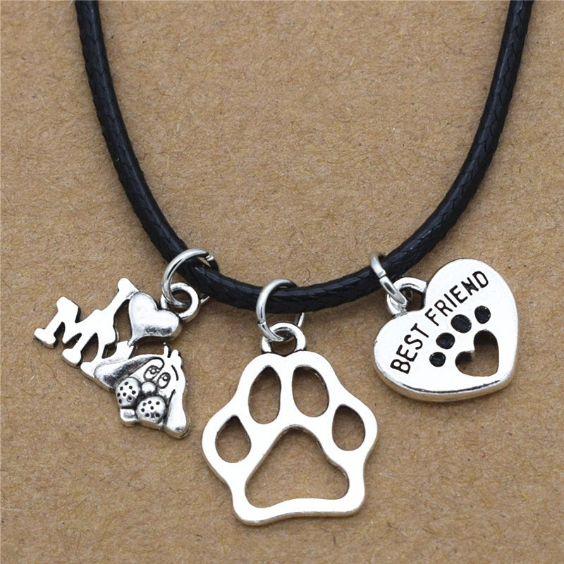 Charms Dog's Paw Necklace