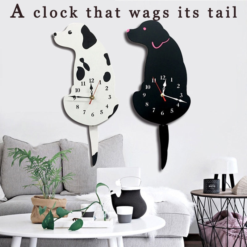 wall clock dog