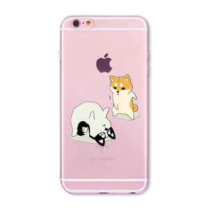 Transparent animal cases