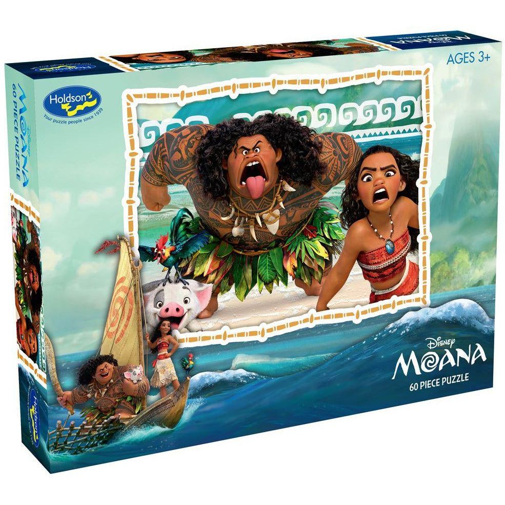 "Disney, Moana: Bold Adventures - 60 Pieces, Puzzle, Brand_Holdson, Category_Puzzle Kids, Pieces_60, Theme_Cartoon, Theme_Disney, ""board games"", ""Hobby Games"""
