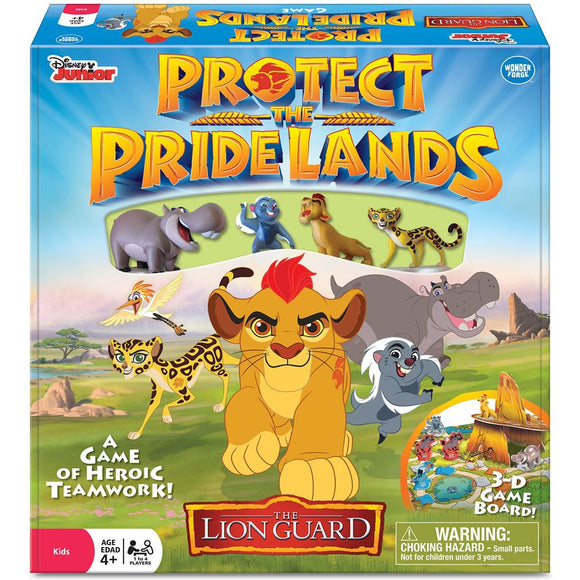 "The Lion Guard: Protect the Pride Lands, Board Game, Age_10+, Age_4+, Age_5+, Age_6+, Age_7+, Age_8+, Age_9+, Age_Adult, Age_Teen, Category_Childrens, Category_Cooperative, Category_Solo, Disney, Mechanic_Cooperative, Wonder Forge, ""board games"", ""Hobby Games"""