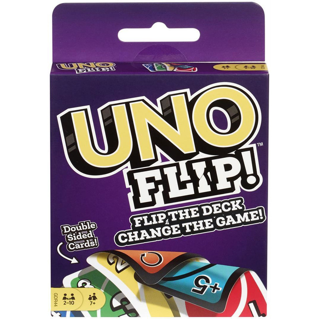 "Uno Flip, Card Game, Age_5-7 years, Category_Family, Mechanic_Hand Management, Mechanic_Take That, ""board games"", ""Hobby Games"", Hobby Games"