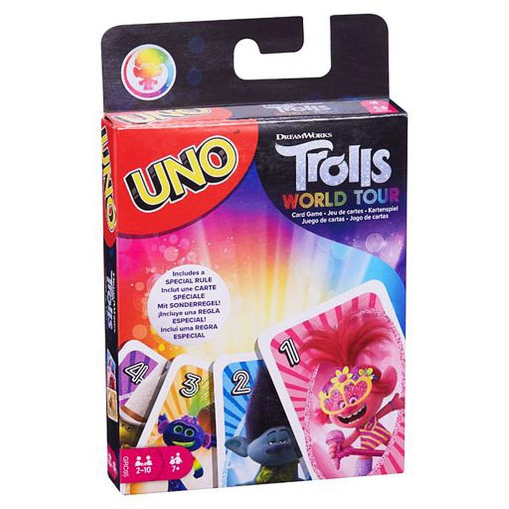 "Uno - Trolls World Tour, Card Game, Age_5-7 years, Category_Family, Mechanic_Hand Management, Mechanic_Take That, Uno, ""board games"", ""Hobby Games"", Hobby Games"