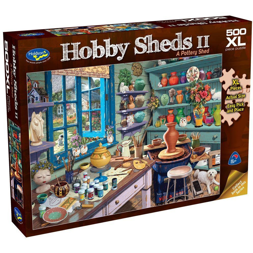 "Hobby Sheds II: A Pottery Shed - 500 pieces, Puzzle, Brand_Holdson, Category_Puzzle, Collection_Hobby Sheds, Pieces_500, Theme_Objects, ""board games"", ""Hobby Games"", Hobby Games"