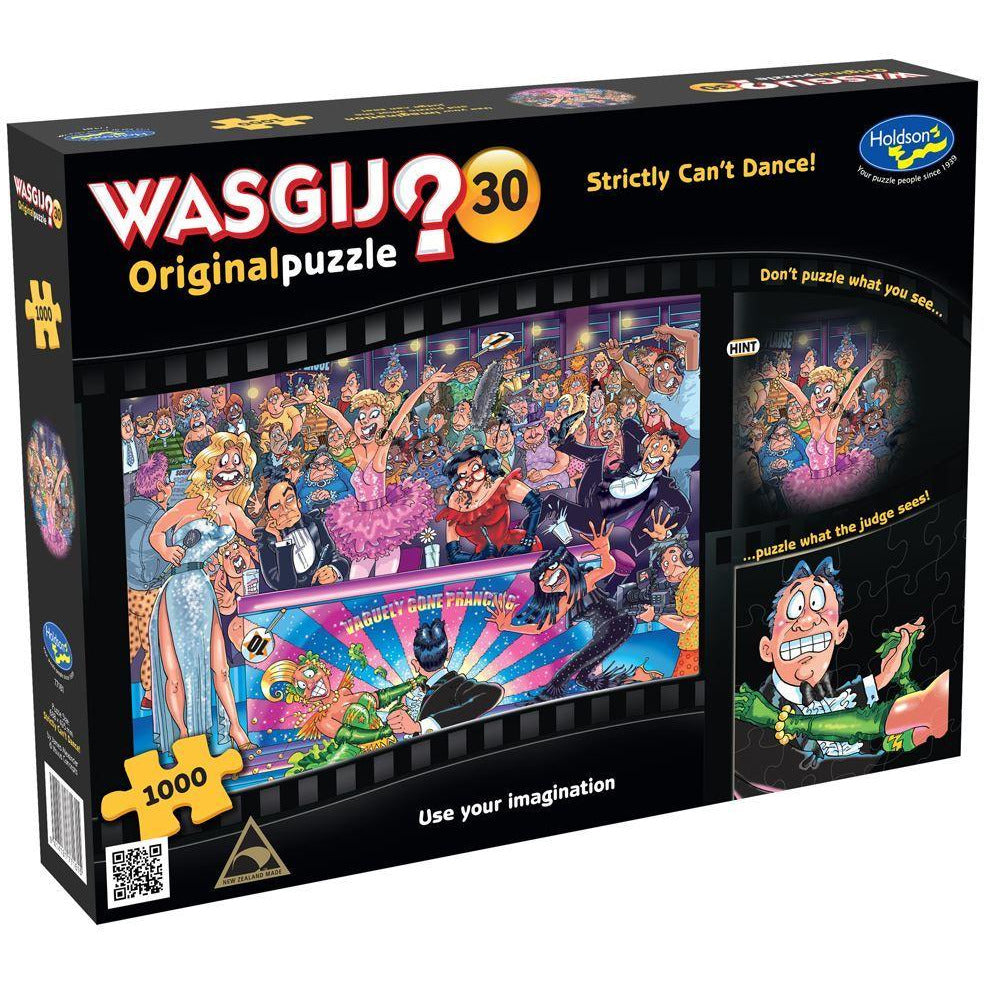 "WASGIJ Original 30: Strictly Can't Dance! - 1000 pieces, Puzzle, Brand_Holdson, Category_Puzzle, Collection_WASGIJ, Pieces_1000, Theme_Cartoon, ""board games"", ""Hobby Games"", Hobby Games"