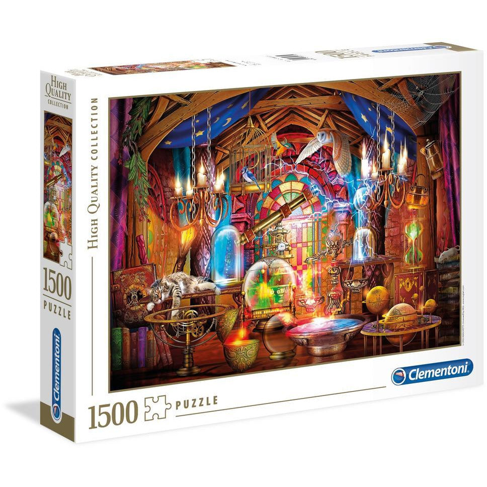 "High Quality, Wizards Workshop - 1500 pieces, Puzzle, Brand_Clementoni, Category_Puzzle, Collection_High Quality, Pieces_1500, Theme_Fantasy, Theme_Objects, ""board games"", ""Hobby Games"", Hobby Games"