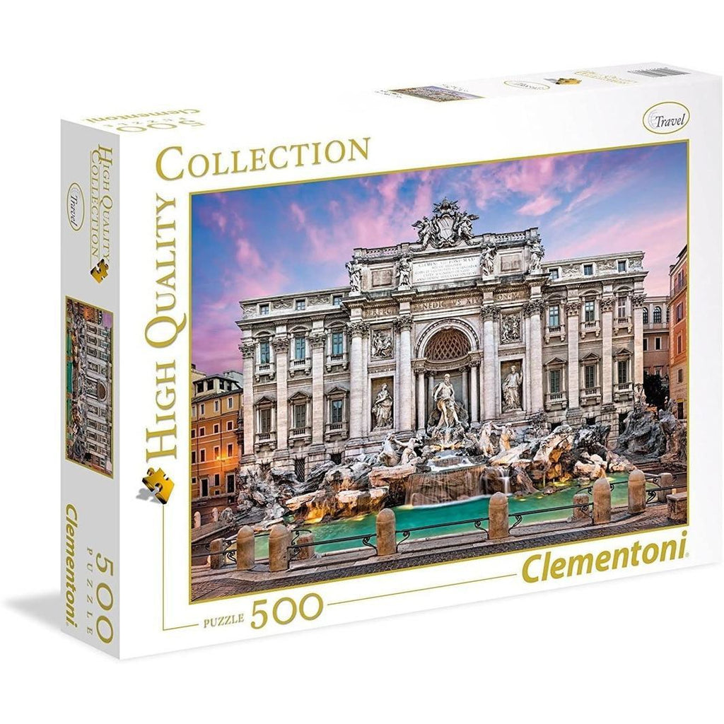 "High Quality, Trevi Fountian - 500 pieces, Puzzle, Brand_Clementoni, Category_Puzzle, Collection_High Quality, Pieces_500, Theme_Landmarks, ""board games"", ""Hobby Games"", Hobby Games"