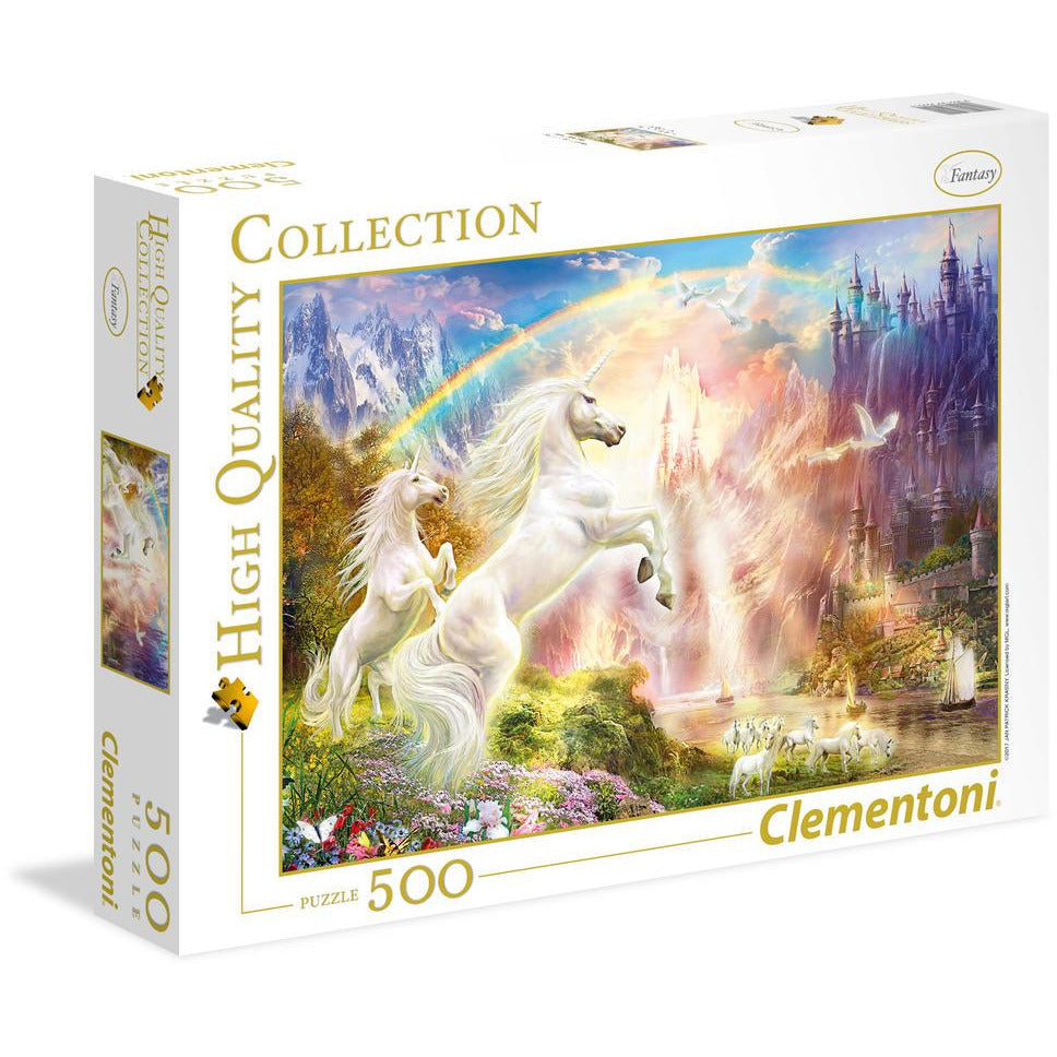 "High Quality, Sunset Unicorns - 500 pieces, Puzzle, Brand_Clementoni, Category_Puzzle, Collection_High Quality, Pieces_500, Theme_Fantasy, ""board games"", ""Hobby Games"", Hobby Games"