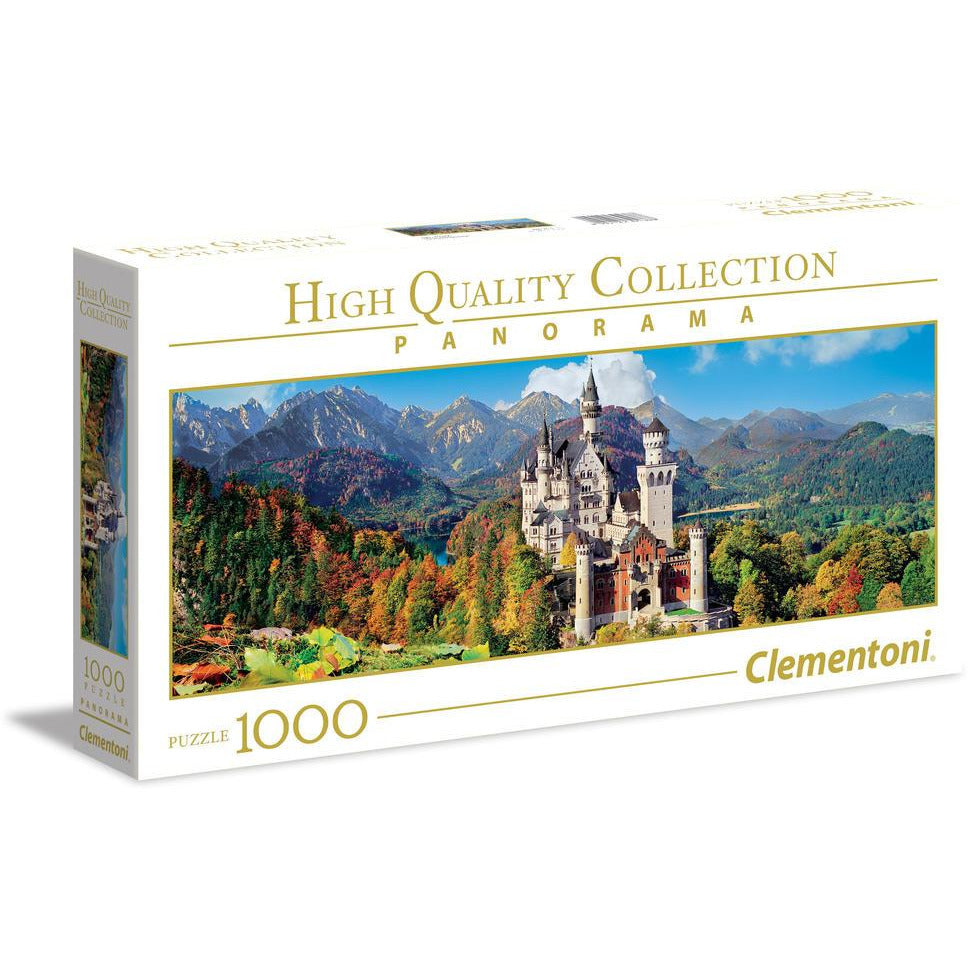 "High Quality, Panorama ""Neuschwanstein"" - 1000 pieces, Puzzle, Brand_Clementoni, Category_Puzzle, Collection_High Quality, Collection_Panorama, Pieces_1000, Theme_Landscape, ""board games"", ""Hobby Games"", Hobby Games"