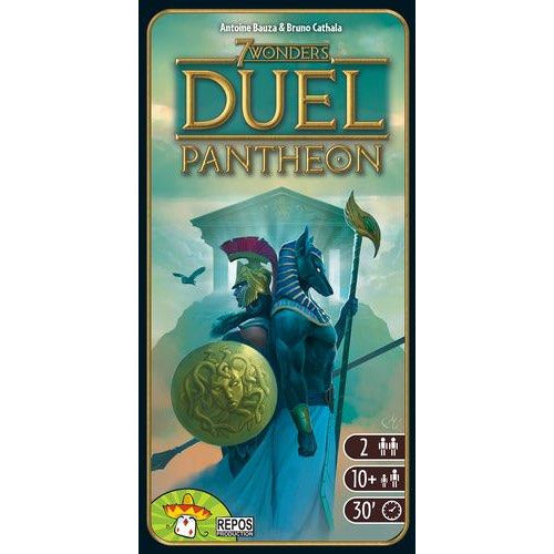 "7 Wonders Duel: Pantheon, Board Game, 7 Wonders, Age_10+, Age_Adult, Age_Teen, Antoine Bauza, Bruno Cathala, Category_Expansion, Category_Family, Category_Strategy, Mechanic_Drafting, Mechanic_Set Collection, ""board games"", ""Hobby Games"""