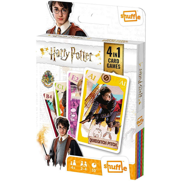 Shuffle - 4 in 1 Harry Potter Card Game