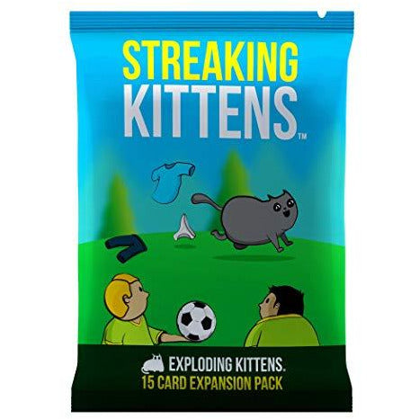 "Streaking Kittens, Card Game, Age_5-7 years, Category_Expansion, Category_Party, Exploding Kittens, Mechanic_Hand Management, Mechanic_Player Elimination, Mechanic_Press Your Luck, Mechanic_Set Collection, Mechanic_Take That, ""board games"", ""Hobby Games"", Hobby Games"