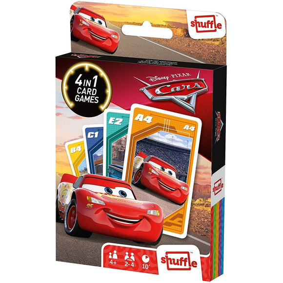 Shuffle - 4 in 1 Disney Cars Card Game