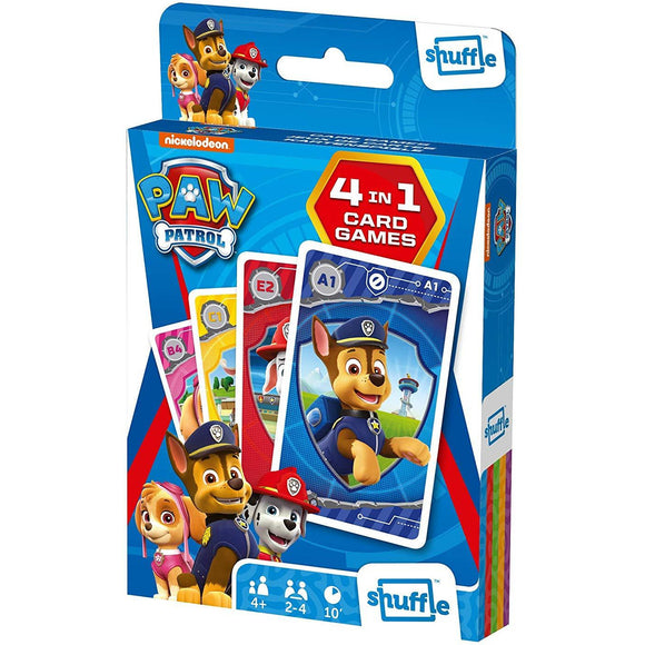 Shuffle - 4 in 1 Paw Patrol Card Game