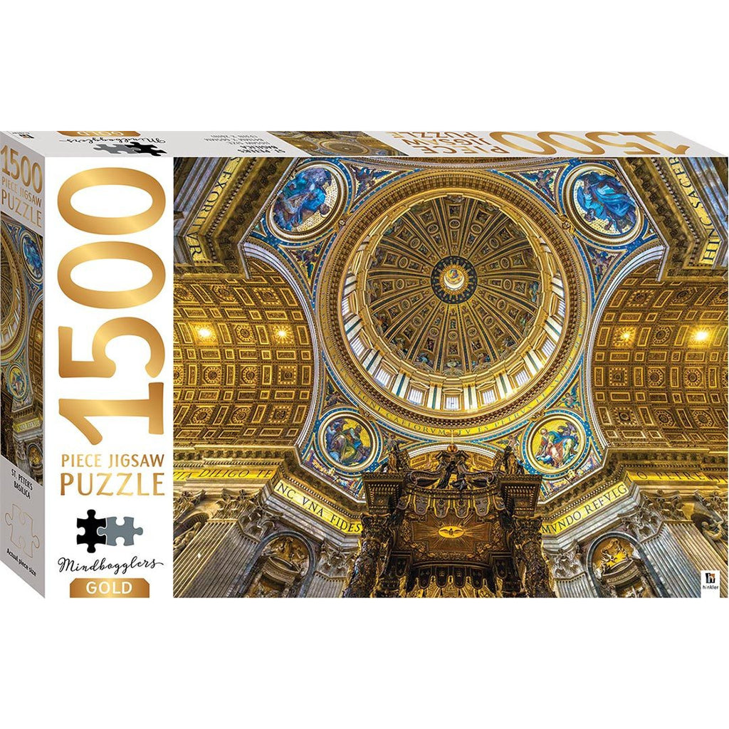 "Mindbogglers Gold, St. Peter's Basilica - 1500 Pieces, Puzzle, Brand_Hinkler, Category_Puzzle, Collection_Mindbogglers Gold, Pieces_1500, ""board games"", ""Hobby Games"", Hobby Games"