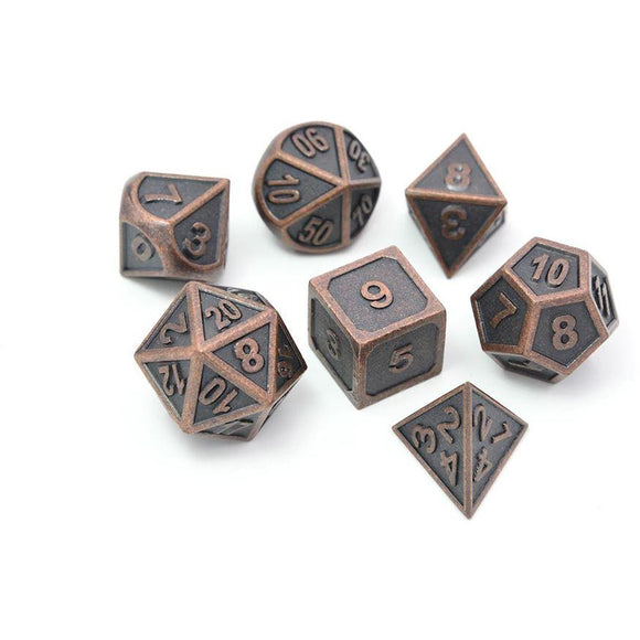 Metal Ancient Copper - Polyhedral Dice Set