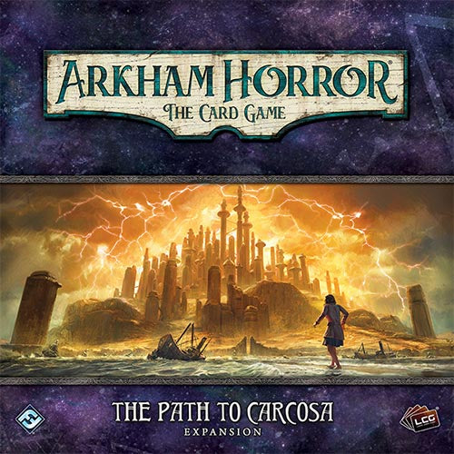 "Arkham Horror: Path to Carcosa, Card Game, Age_Teens, Arkham Horror, Category_2 Player, Category_Expansion, Category_Solo, Category_Thematic, Fantasy Flight, Mechanic_Cooperative, Mechanic_Deck Building, Mechanic_Hand Management, Mechanic_Pool Building, Mechanic_Variable Player Powers, Role Playing Game, ""board games"", ""Hobby Games"", Hobby Games"