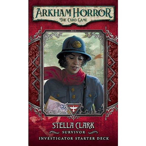 "Arkham Horror: Stella Clark Investigator Starter Deck, Card Game, Age_Teens, Arkham Horror, Category_2 Player, Category_Expansion, Category_Solo, Category_Thematic, Fantasy Flight, Mechanic_Cooperative, Mechanic_Deck Building, Mechanic_Hand Management, Mechanic_Pool Building, Mechanic_Variable Player Powers, Mythos Pack, Role Playing Game, ""board games"", ""Hobby Games"", Hobby Games"