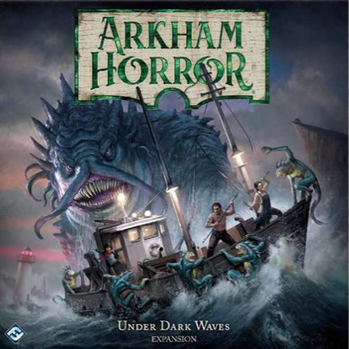 "Arkham Horror: Under Dark Waves, Board Game, Age_Teens, Category_Expansion, Category_Solo, Category_Thematic, Kevin Wilson, Mechanic_Cooperative, Mechanic_Dice Rolling, Mechanic_Modular Board, Mechanic_Variable Player Powers, Nikki Valens, Richard Launius, ""board games"", ""Hobby Games"", Hobby Games"